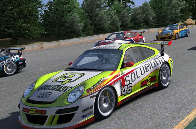 Porsche 911 patrocinado por T-Soluciona de eSports.