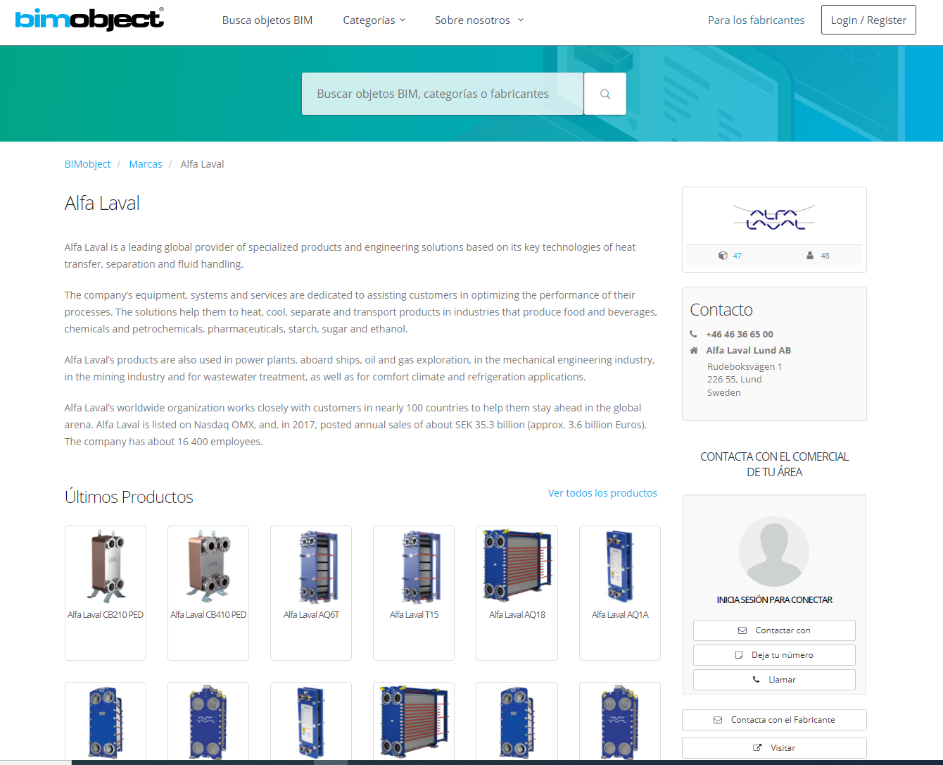 Intercambiadores de calor Alfa Laval en archivos BIM, consulta a tu distribuidor oficial T-Soluciona