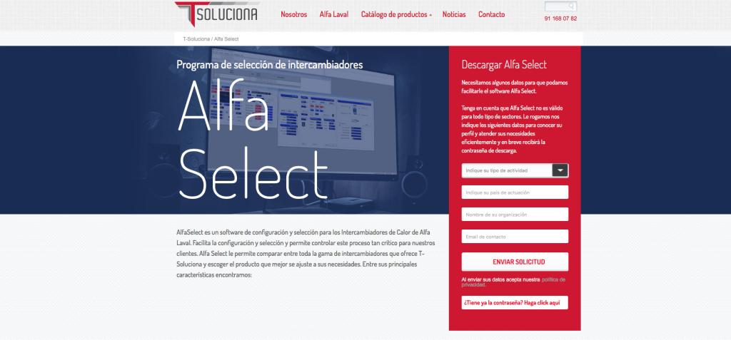 Programa de Selección de Intercambiadores de calor Alfa Laval