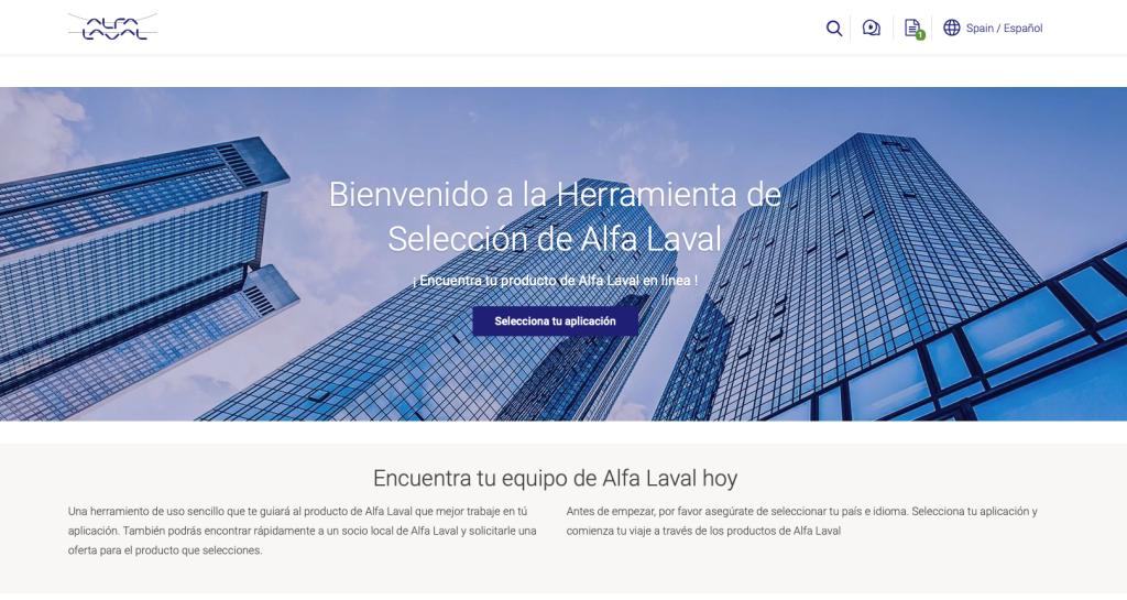 Programa de selección online de Intercambiadores de calor Alfa Laval T-Soluciona